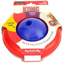 Brinquedo Interativo Para Cães Solta petisco - Kong Gyro P