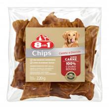Petiscos de Couro Sabor Carne - 8in1 para cães