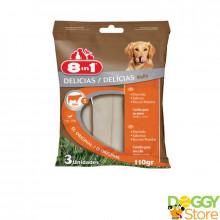 Petisco de Couro Roll 8in1 - Natural - para cães